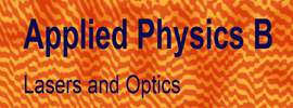 Springer Nature - Applied Physics B: Lasers and Optics
